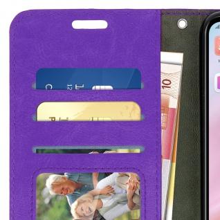 Flip Cover Stand Case Brieftasche & Standfunktion für Huawei P20 Lite - Violett - Vorschau 4