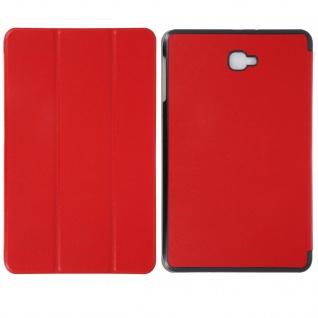 Dünne Flip-Schutzhülle für Galaxy Tab A 10.1 (2016) - Mit Standfunktion - Rot