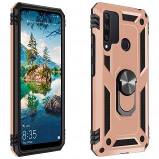 Hybrid Handyhülle mit Ring Halterung für Huawei Y6p ? Rosegold