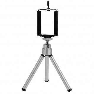 Mini Dreibeinstativ für Smartphones 360° drehbar - Silber