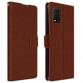 Flip Stand Case Brieftasche & Standfunktion für Xiaomi Mi 10 Lite ? Braun