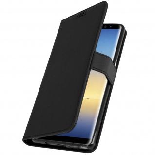 Samsung Galaxy Note 8 Flip-Cover mit Kartenfächern & Standfunktion - Schwarz