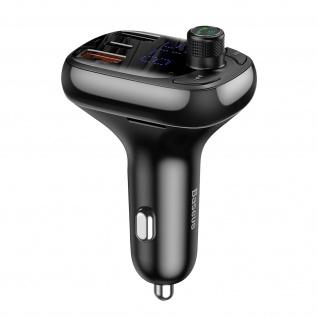 FM-Bluetooth Transmitter, Autoladegerät mit Bedientasten, Baseus S-13 ? Schwarz