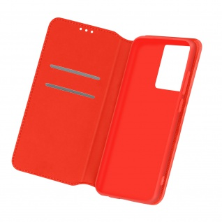 Kunstleder Cover Classic Edition für Samsung Galaxy S21 Ultra ? Rot