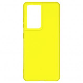 Halbsteife Silikon Handyhülle für Samsung Galaxy S21 Ultra, Soft Touch ? Gelb