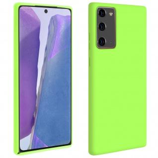 Halbsteife Silikon Handyhülle Samsung Galaxy Note 20, Soft Touch - Grün