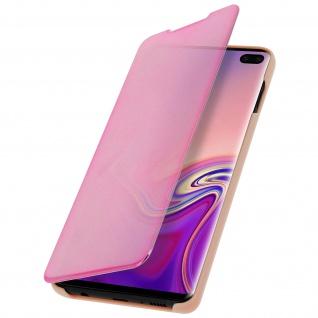 Samsung Galaxy S10 Plus Flip Cover mit Spiegeleffekt & Standfunktion - Rosegold