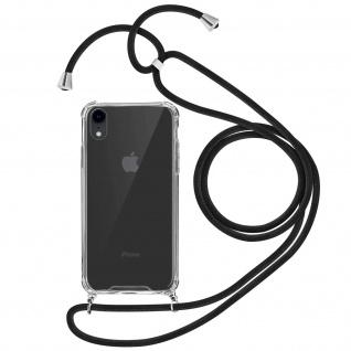 Handykette Handyhülle mit Halsband für Apple iPhone XR - Schwarz
