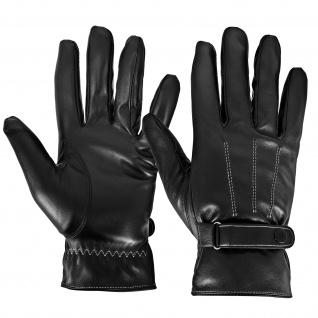 Touchscreen-Handschuhe, Männer Frauen, Kunstleder Handschuhe - Schwarz