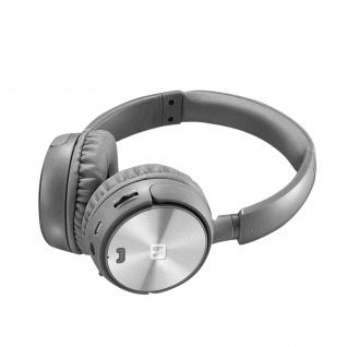 Trix Bluetooth-Headset, FM-Tuner / Micro SD-Anschluss, Swissten � Silber