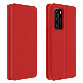 Kunstleder Cover Classic Edition Huawei P40 - Rot