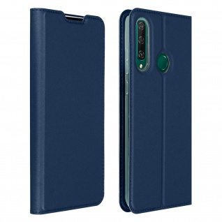 Klappetui mit Kartenfach & Standfunktion Huawei Y6p - Dunkelblau