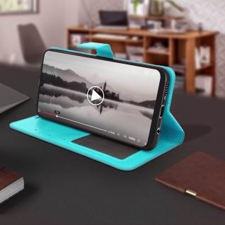 Flip Stand Cover Brieftasche & Standfunktion für Samsung Galaxy A50 - Türkisblau - Vorschau 4