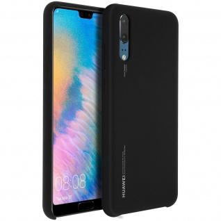 Huawei P20 Soft-Touch Backcover, Original Huawei Schutzhülle - Schwarz