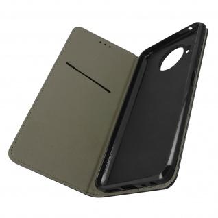 Nokia 8.3 5G Premium Kunstlederhülle mit Standfunktion ? Schwarz