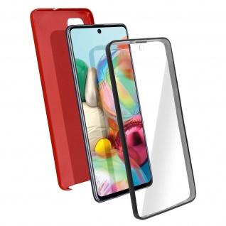 Schutzhülle für Samsung Galaxy A71, Vorder- + Rückseite ? Rot