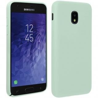 Halbsteife Silikon Handyhülle Galaxy J3 2018, Soft Touch - Grün