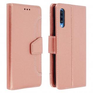 Klapphülle mit Geldbörse & Standfunktion für Samsung Galaxy A70 - Rosa