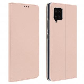 Wallet Cover für Samsung Galaxy A42 5G, Kartenfach und Ständer ? Rosegold