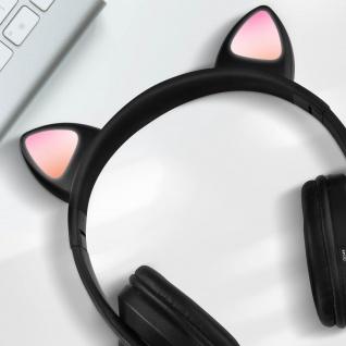 Katzenohren kabellose 5.0 Bluetooth Kopfhörer, Kitty Headset ? Schwarz - Vorschau 3