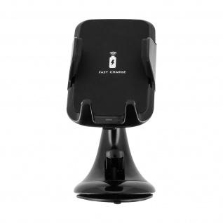 Smartphone Autohalterung mit QI-Funktion Windschutzscheiben-Saugnapf ? Schwarz