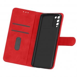Flip Cover Geldbörse, Etui Kunstleder für Honor 10X Lite ? Rot