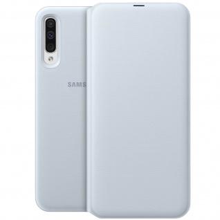 Samsung Wallet Cover für Samsung Galaxy A50, Original Samsung Hülle - Weiß