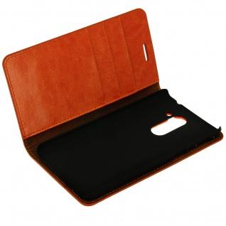 Flip-Cover im Brieftaschenstil für Honor 6x - Camel - Standfunktion
