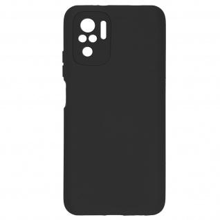 Halbsteife Silikonhülle für Xiaomi Redmi Note 10 /Note 10s, Soft Touch ? Schwarz