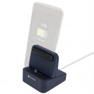 4Smarts Wiredock Dockingstation Blau - iPhone/iPad, USB Typ-C und Micro-USB