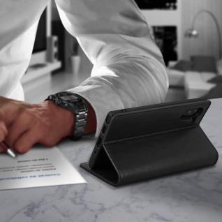Business Leder Cover, Schutzhülle mit Geldbörse Galaxy Note 10 - Schwarz - Vorschau 4