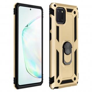 Hybrid Handyhülle mit Ring Halterung für Samsung Galaxy Note 10 Lite ? Gold