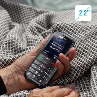 Seniorentelefon 800mAh Akku, 4.5Std. Akkulaufzeit MM721 Maxcom - Schwarz - Vorschau 4