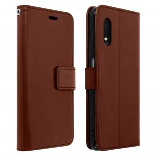 Flip Stand Case Brieftasche & Standfunktion für Galaxy Xcover Pro - Braun