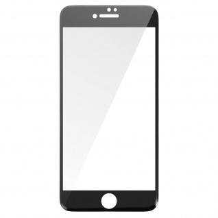 Displayschutzfolie aus Hartglas Schutz iPhone 7 Plus / 8 Plus - Rand Schwarz