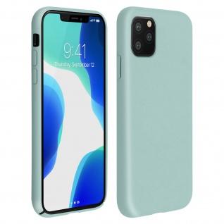 Halbsteife Silikon Handyhülle Apple iPhone 11 Pro, Soft Touch - Graugrün