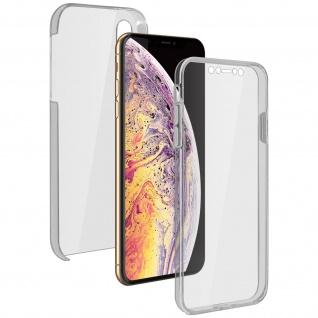 Schutzhülle für Apple iPhone XS Max, Vorder- + Rückseite ? Transparent