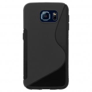 Samsung Galaxy S6 S-Line Schutzhülle aus Silikon - Schwarz - Vorschau 2