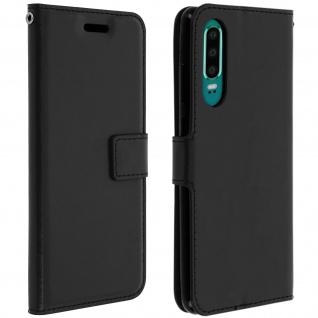 Flip Stand Cover Brieftasche & Standfunktion für Huawei P30 - Schwarz