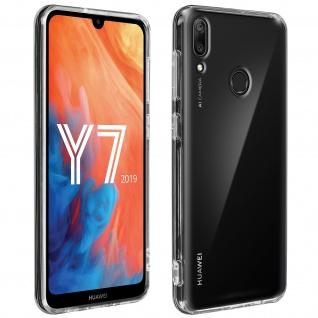 Crystal Schutzhülle + Bumper cover für Huawei Y7 2019 - Transparent