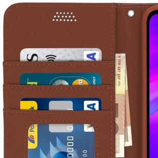 Xiaomi Redmi 7 Flip-Cover mit Kartenfächern & Standfunktion - Braun - Vorschau 5