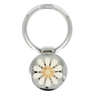 Smartphone Ring Halterung im Blumendesign mit Standfunktion - Silber