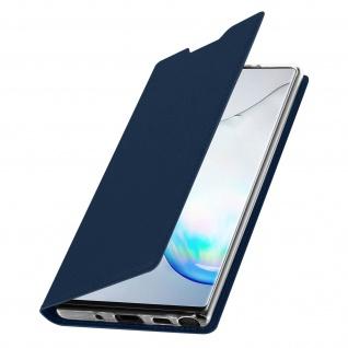 Flip Cover, Klappetui mit Kartenfach & Standfunktion Galaxy Note 10 Dunkelblau - Vorschau 2