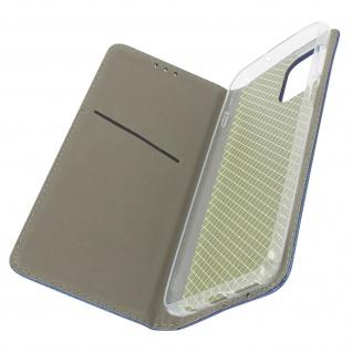 Motorola Moto G100 Premium Book Cover mit Standfunktion � Dunkelblau