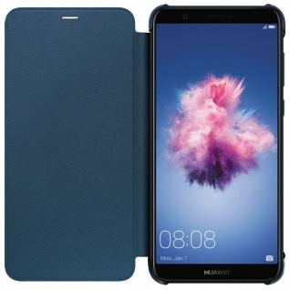 Original Huawei Flip Cover für Huawei P Smart Rundumschutz - Blau