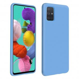 Halbsteife Silikon Handyhülle Samsung Galaxy A51, Soft Touch - Blau