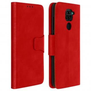 Flip Stand Case Brieftasche & Standfunktion für Xiaomi Redmi Note 9 - Rot