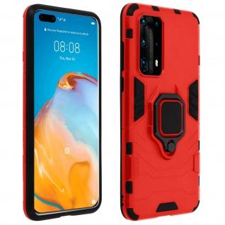 Stoßfeste Handyhülle Huawei P40 Pro mit Ring-Halterung - Rot