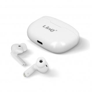 LinQ Bluetooth 4.0 TWS Kopfhörer Touch Control, 12 Std. Akkulaufzeit â€? Weiß
