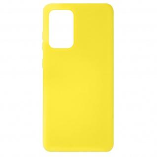 Halbsteife Silikon Handyhülle für Samsung Galaxy A72, Soft Touch ? Gelb